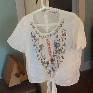 HESTER & ORCHARD ANTHROPOLOGIE Shirt// Size xl